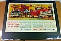 "1958 Chevrolet Apache Pickup  Farm Trucks *Original* ""Ready to Display"" print ad"