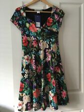 Ashley Brooke Floral Summer Dress Size 10 Eu 36 New Made In Germany