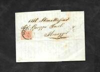 Lombardo Veneto lettera con 15 cent n.6 da Milano a Menaggio