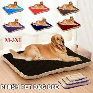 Pet Dog Large Bed Cat Mats Soft Plush Cushion Reversible Tear Resistant Washable