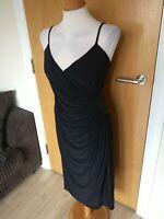 Ladies Dress Size 12 Black AUTOGRAPH M&S Black Stretch Ruched Party Evening