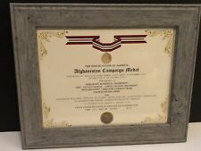 AFGHANISTAN CAMPAIGN MEDAL COMMEMORATIVE CERTIFICATE w/Free Printing
