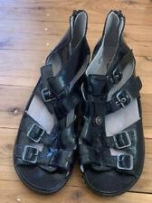 WALDLAUFER Hilena ladies black patent leather gladiator sandals BNWOT 8-9 ladies