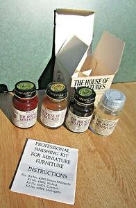 43804 MAHOGANY The House of Miniatures FINISHING KIT FOR MINIATURE FURNITURE