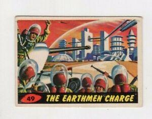 1962 Original Topps Mars Attacks Card #49 THE EARTHMEN CHARGE