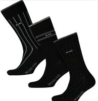 MICHAEL KORS Men's Three Pack Black Patterned Socks Size: UK 6.5-11 EUR 40-46