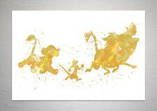 Simba, Timon & Pumbaa - The Lion King - Disney Art - Splash Effect - A4 Size