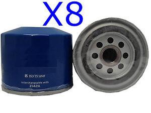 8X Oil Filter fits Z142 PEUGEOT505 XN2.0L 4CYL Petrol 1980-88