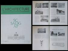 L'ARCHITECTURE 1939 CALAIS, POYE, JEAN-CHARLES MOREUX, THEATRE CHAILLOT NIERMANS