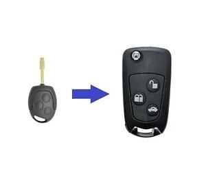 AMAKEY Schlüssel Umbaukit Autoschlüssel -> Klappschlüssel für FORD   3 Tasten