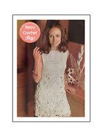 1970s Flower Motif Crochet Dress Pattern  - Copy