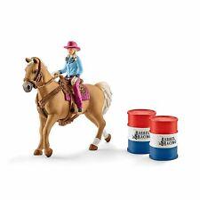 Schleich Pferde Barrel racing mit Cowgirl 41417