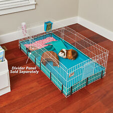 MIDWEST HOMES PETS Large Interactive Guinea Pig Hamster Cage Habitat