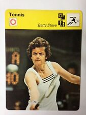 CARTE EDITIONS RENCONTRE 1979 / TENNIS - BETTY STOVE