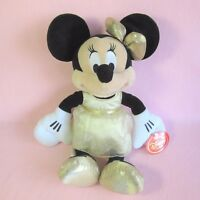 """Disney Store 16"""" Minnie Mouse gold dress 2013 soft plush toy tag"""