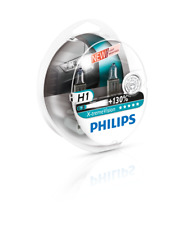 Philips Xtreme Vision Plus 130% Extra Light Headlight Halogen Bulbs H1 Twin Pack