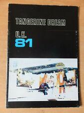 Tangerine Dream Tour Programme 1981 Autumn UK