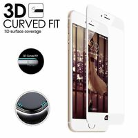 For iPhone 6 Plus White Edge Full 3D Cover Curve Tempered Glass Screen Protector