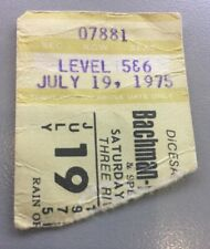 BACHMAN-TURNER OVERDRIVE, KANSAS, STYX, FOGHAT , Concert Ticket 7/19/75 3 Rivers