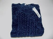 SONOMA CREW NECK CABLE KNIT CHENILLE SWEATER WOMENS SZ XXL (20) -NAVY- NWT