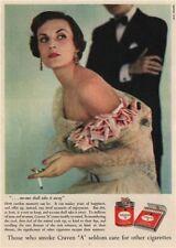 "TOBACCO ADVERT. Craven ""A"" Cigarettes 1951 old vintage print picture"