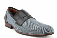 Men's Ferro Aldo Plaid Penny Loafers Slip On Casual Driving Dress Shoes 19371