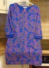 White Stuff 'Merlot Blue' Cotton Tunic Top UK 10 Floral