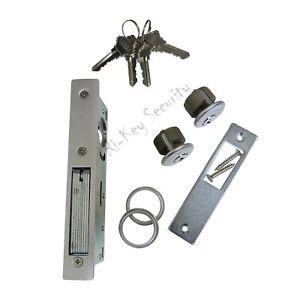 Storefront Door Mortise Lock Bolt Deadbolt with 2 Cylinders Adams Rite Cam 4 Key