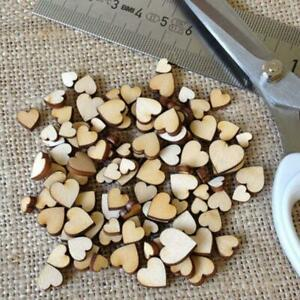 Mini 200*Wooden Small Mix Rustic Love Heart Wedding Table Decor Scatter O8B6