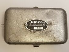 Vintage 50s-60s Umco Model P-9 Small Fishing Tackle Box Double-Sided w/Divide