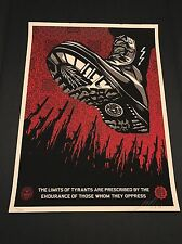 Shepard Fairey Tyrant Boot Signed/Numbered 174/450 Obey Giant, Light Damage