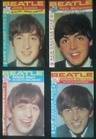 THE BEATLES 4 SMALL REPRODUCTION MAGAZINES 1 OF EACH MEMBER (170mm x 110mm each)