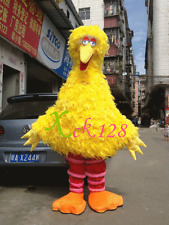 Hot 2016 new Big Bird Sesame Street Mascot Costume Fancy Dress Adult Size-gift