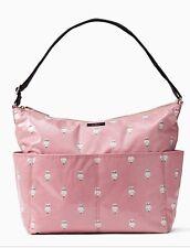 KATE SPADE Daycation Serena Painterly Owl Baby Diaper Bag Pink WKRU1561 NWT