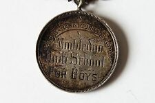 WIMBLETON HIGH SCHOOL FOR BOYS SILVER MEDAL TO LEO WALKER GYMNASTICS EASTER 1890