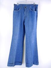 VTG Levi's Men's 629 Light Wash Denim Big E Orange Tab Wide Leg Jeans Size 34x33