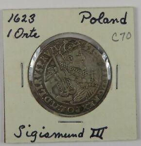 C70 Poland, AR ¼ Thaler (Orte) of Sigismund III, 1623 D