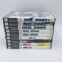 Sony PlayStation 2 (PS2) NHL Game Lot of 9 (2001-09) Complete With Manuals