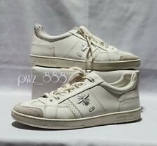 CHRISTIAN DIOR Fly CD White Leather Sneakers Women Size 38