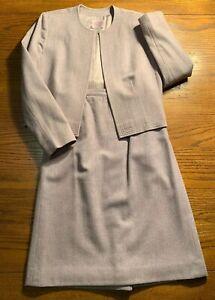 Pendleton Petite Sz 10 2-pc set Skirt Jacket Soft Pink 100% Wool Women's Ladies