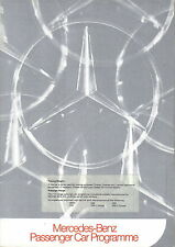 Mercedes Benz Range 1972-73 Brochure 200 220 230 250 280 350 600 SL SLC CE SE S