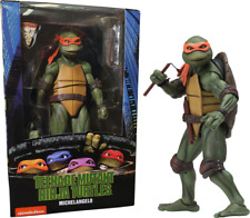 "NECA Teenage Mutant Ninja Turtles 7"" Figure 1990 Movie Michelangelo Ip4 Lotc0920"