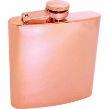 6oz COPPER Color FLASK Stainless Steel Screw Cap Hip Pocket Liquor Alcohol