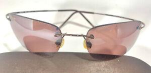 MAUI JIM Kapalua 502-23 Titanium Sunglass Polarized Rose Lenses