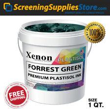 Xenon Forrest Green Plastisol Ink For Screen Printing 1 Quart 32oz