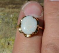 9ct Gold Australian Opal Ring, Large