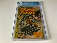 OUR FIGHTING FORCES 7 CGC 5.5 ARMY WAR DC COMICS 1955