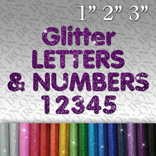 Personalized Glitter Letters & Numbers Iron-on FABRIC T-SHIRT TRANSFER Sticker