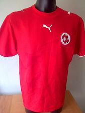 Svizzera Home Rosso Calcio Camicia / Top / Jersey 2005/2006 Uomo grandi in buonissima condizione