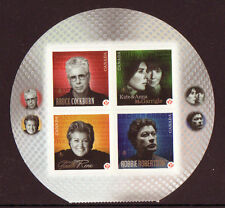 CANADA 2011 RECORDING ARTISTS SET OF 4 SELF/AD. UNMOUNTED MINT, MNH.